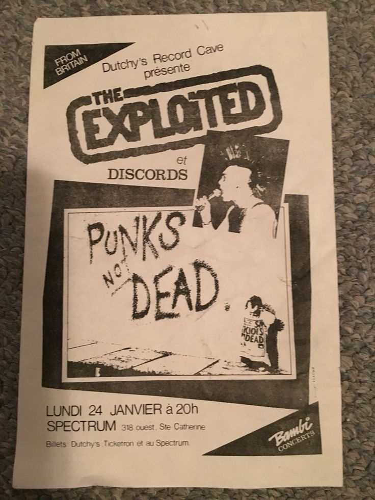 The Exploited show Montreal 1983