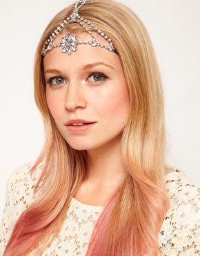 Imagen 1 de Banda para el pelo floral con joyas de ASOS