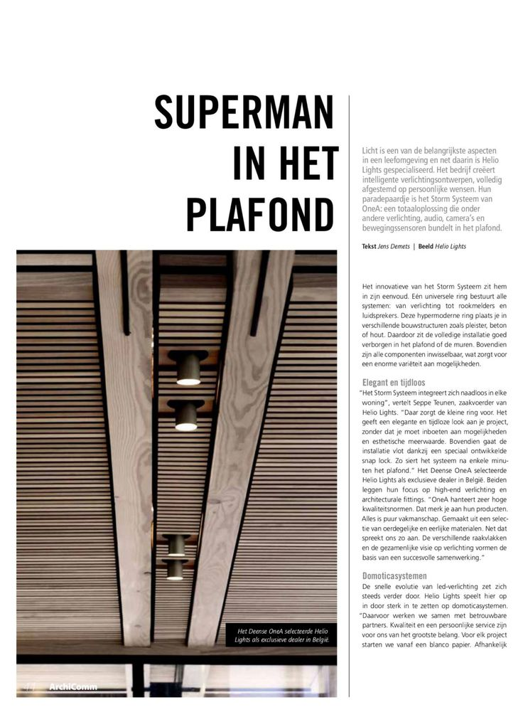 ArchiComm 01 2017: SUPERMAN IN HET PLAFOND