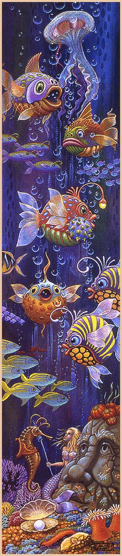 FISH GAZING BY RANDAL SPANGLER.I realize this os artist rendering; but the colors just POP, which is why I postedit here.:)