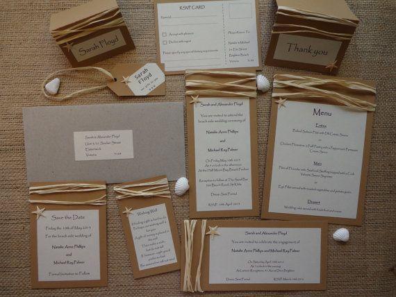 BEACH WEDDING INVITATION Range of Handmade and by CreateTheDate, $8.71