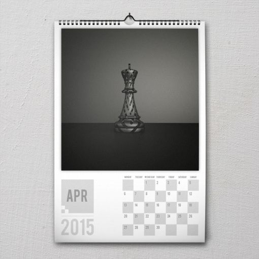 April 2015 #PremiumChessArtCalender #PremiumChess #chess #art #calender #kalender #LikeableDesign #illustration #3Dartwork #3Ddesign #chesspieces #chessart