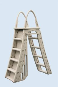 Roll Guard A-Frame Safety Ladder - Pool Supplies Canada