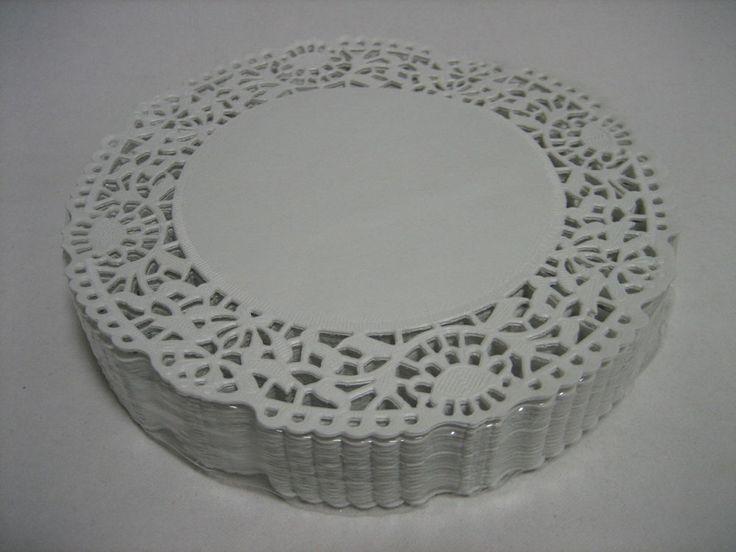 250x Tortenspitzen, Tortenpapier, Tellerdeckchen Ø15 cm weiss