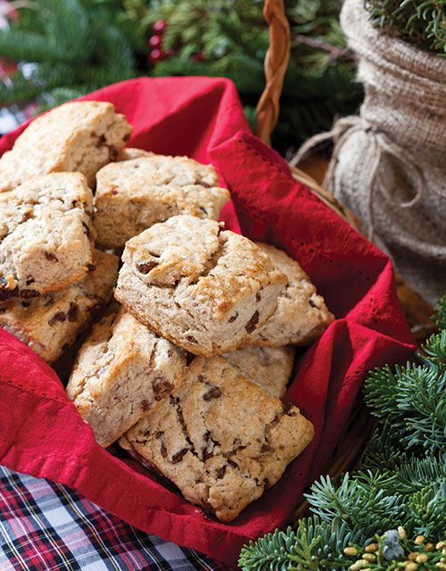 Curl up before a fire with Cinnamon-Date Scones and a freshly brewed cup of tea.