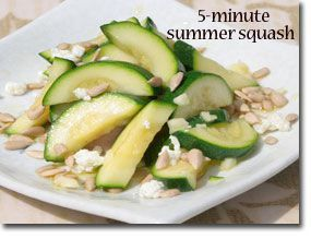 5-Minute Healthy Sautéed Summer Squash - substitute with pinenuts