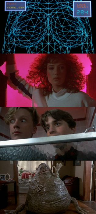 Weird science- he doesn't even have a license Lisa