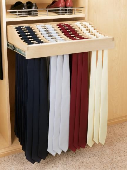 closet organization for neck ties | 20% OFF 24'' Tie Rack (#CWTR-2414-2) by Rev-A-Shelf at Kitchen-Cabinet ...