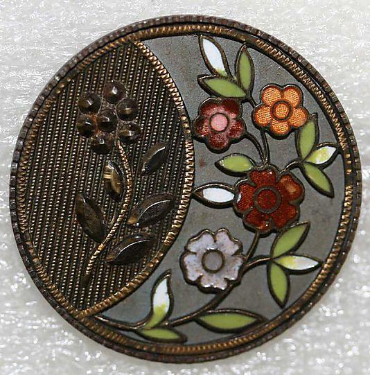 RP: Button 1880 British Enamel, Metal