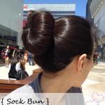How to: Make a Sock Bun Donut - another sock bun tutorial