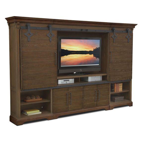 Union City Entertainment Wall Unit - Brown | Value City Furniture