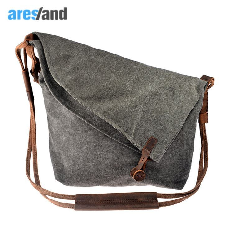 Aresland  women messenger bags canvas Casual Crazy Horse Leather Crossbody Bags women's bags Shouder Bag Ladies Bolsa Feminina //Price: $49.26 & FREE Shipping //     #GAMES