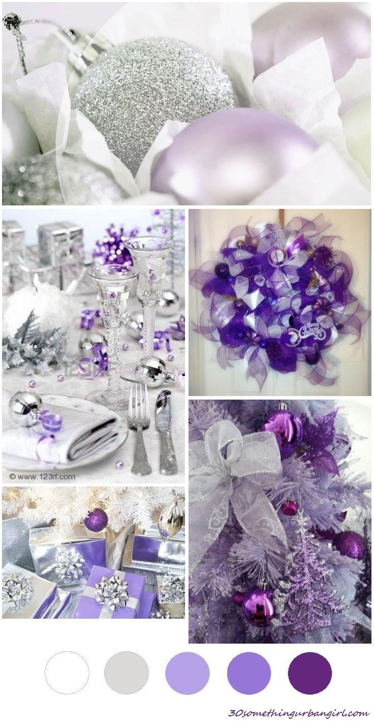 Soft Sunday Christmas Color Palette Lilac Purple And