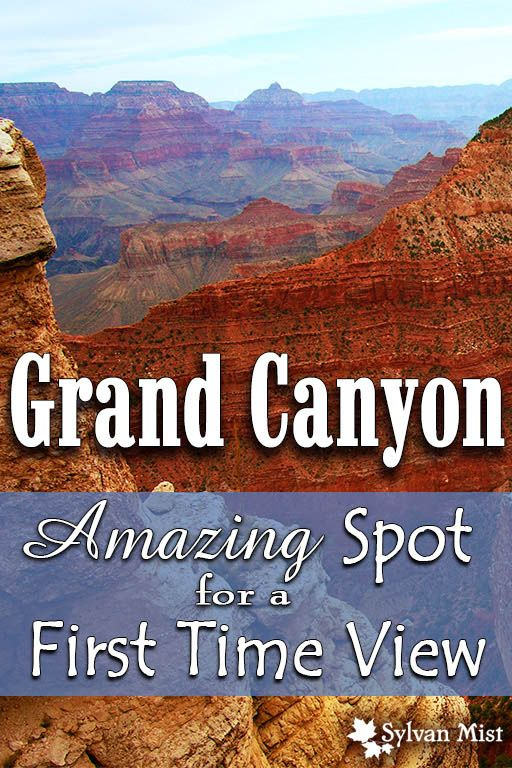 Amazing Spot for a First View of The Grand Canyon - Arizona, South Rim, Mather Point, Overlooks, Visitor's Center, Nationarl Park, Kaibab, Wonders of the world, Natural, Nature, Landscapes, Desert, Gorge, #TravelDestinationsUsaSouth
