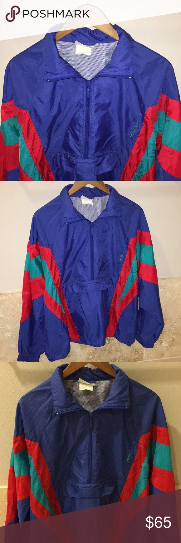 Vintage Adidas Windbreaker- Medium Vintage one of a kind piece! 📺🕹📻 True to size -Medium Ladies large ☎️☎️☎️☎️☎️☎️☎️☎️☎️☎️☎️☎️☎️ adidas Jackets & Coats Windbreakers