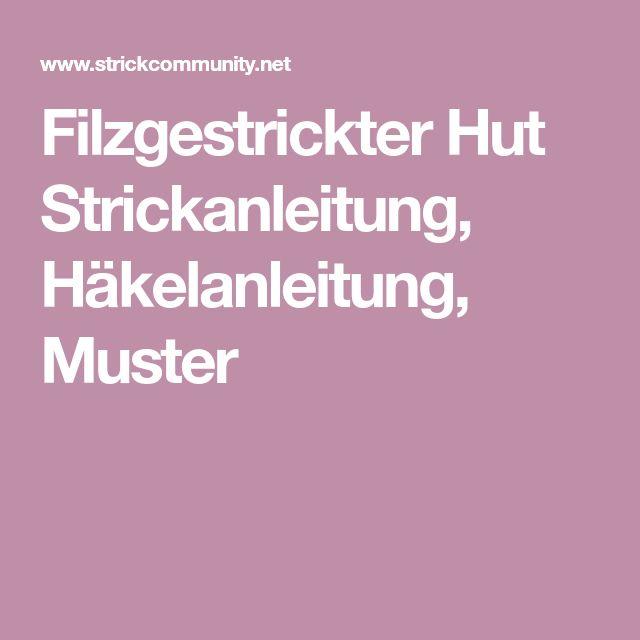 10 besten Filz Hütte Bilder auf Pinterest | Strickmuster, Gestrickte ...