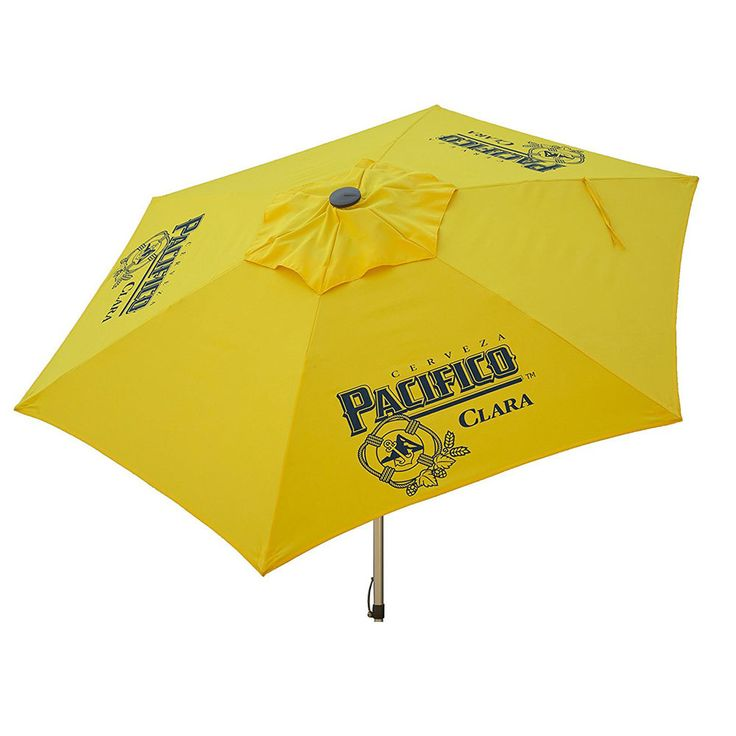Heininger DestinationGear Pacifico Beer Push Up Market Patio Umbrella - 8.5 Ft #DestinationGear