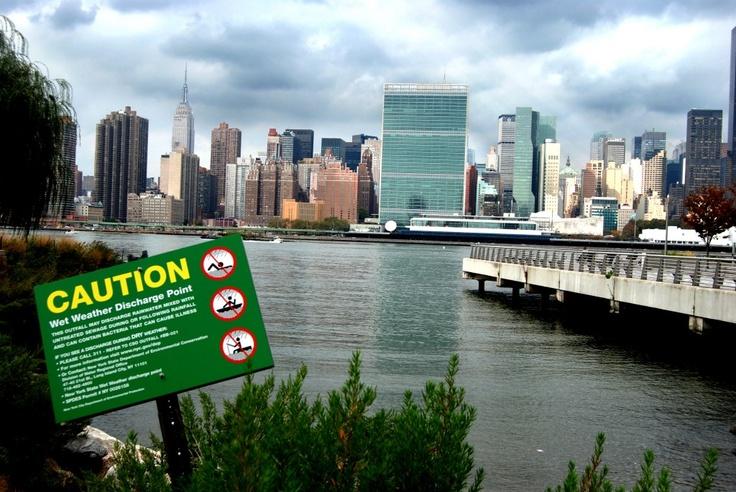 Peaceful Caution - Looking across towards Manhattan