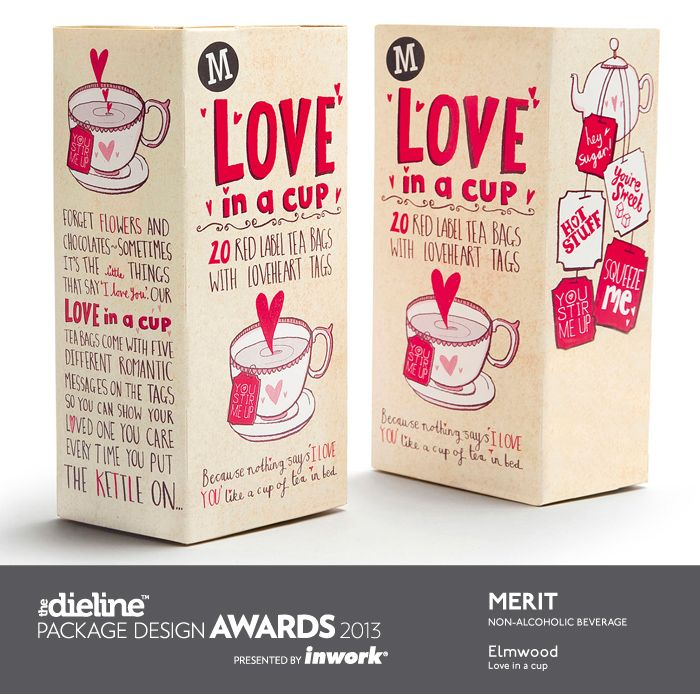 The Dieline Package Design Awards 2013: Non-Alcoholic Beverage, Merit - Love in…