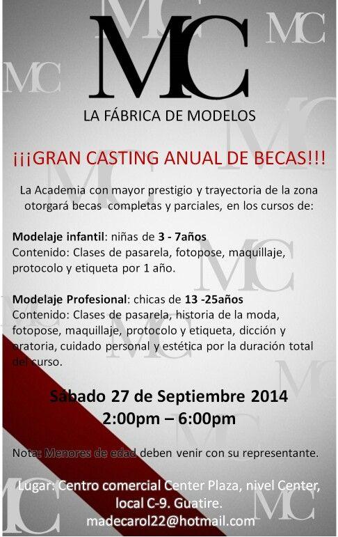 Casting de becas para modelos