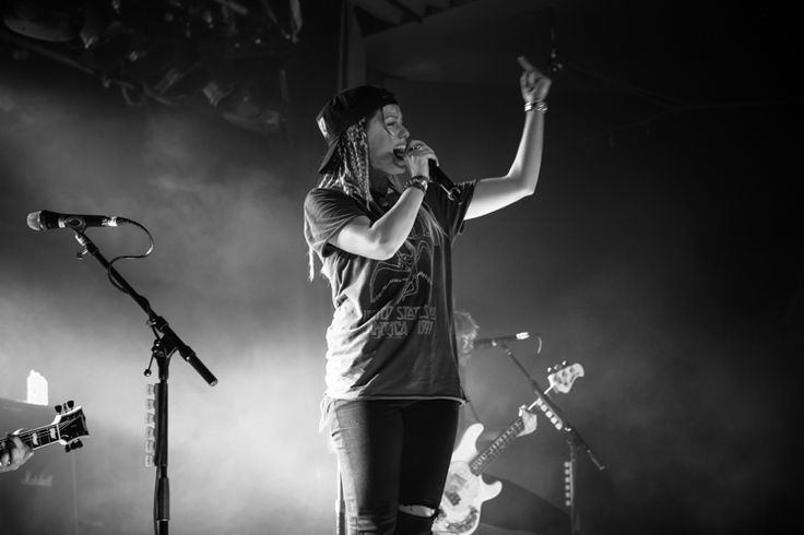 Jenna Mcdougall of Tonight Alive Live in Melbourne 09-09-14