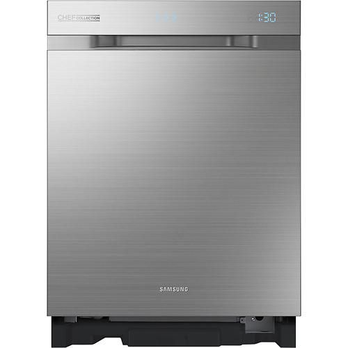 "Samsung - WaterWall Chef Collection 24"" Built-In Dishwasher - Stainless-Steel - Larger Front"
