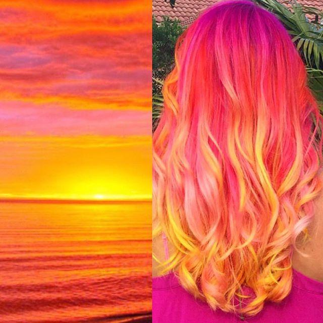 coral hair ideas