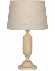 Eltham Limed Ash Table Lamp with Shade. Hand turned Ash wood table lamp base with tapered cylinder lampshade. Each Eltham table lamp base has been hand crafted in Great Britain. Paired with a clean, simple lampshade to give this traditional lamp a more contemporary feel.