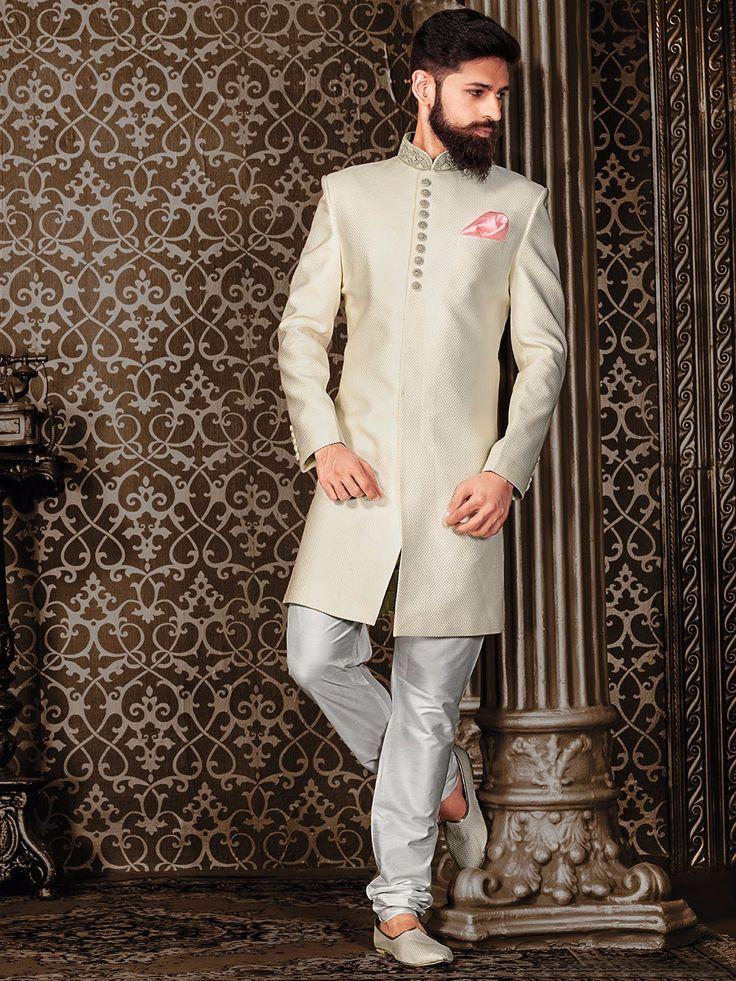 White Silk Wedding Indo Western