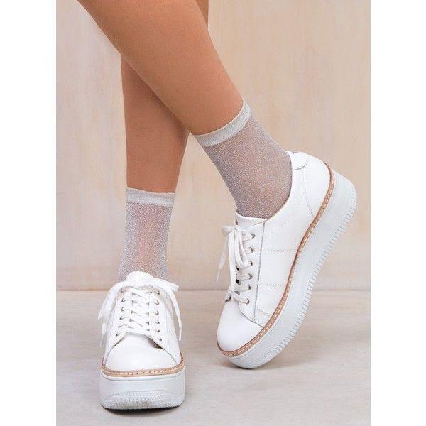 Silver Suki Glitter Socks ($10) ❤ liked on Polyvore featuring intimates, hosiery, socks, glitter body suit, glitter hosiery, silver socks, silver body suit and silver glitter socks