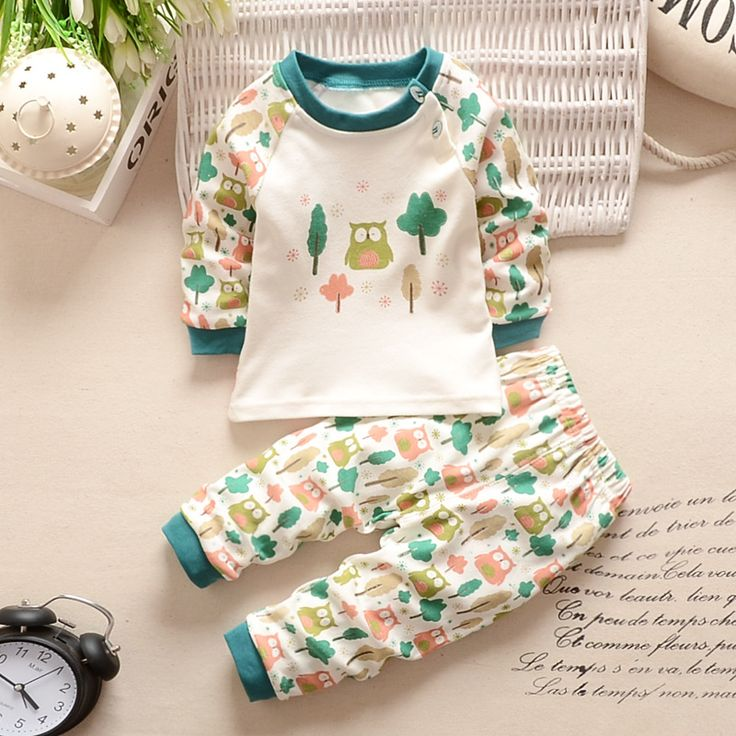 2016 New baby boy clothes sets cartoon casual kids suits infant girl children clothing set 2pcs T shirt+pants