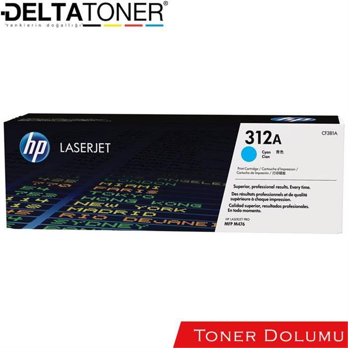 Hp CF381A Toner Dolum Mavi