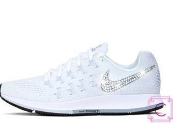 Women s Nike Zoom Pegasus 33 w SWAROVSKI® Crystals - Nike Wedding Shoes -  Custom 1f9aa0572