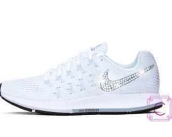Women s Nike Zoom Pegasus 33 w SWAROVSKI® Crystals - Nike Wedding Shoes -  Custom 1f9aa0572