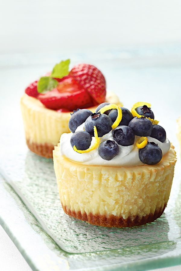These bite-sized mini cheesecakes are the perfect ending to any summer event.