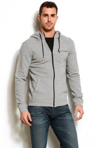 Armani Exchange Textured Contrast Logo Hoodie Sale Price: $68.00 http://hoodies.awesomegiftsforladies.com/