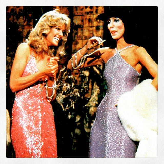 Farrah Fawcett and Cher
