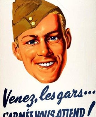 Intégration des Canadiens français dans l'armée canadienne.