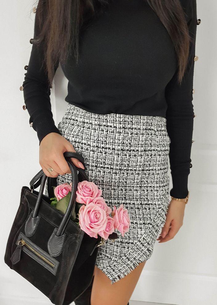 56b8a1aa598d30 Spódniczka Lucy - W szaro - czarną kratkę | NOWOŚCI KATEGORIE \ Spódnice  KATEGORIE \ POKAŻ WSZYSTKIE > SPÓDNICE | Fashion | Spódnica, Szary i Czarny
