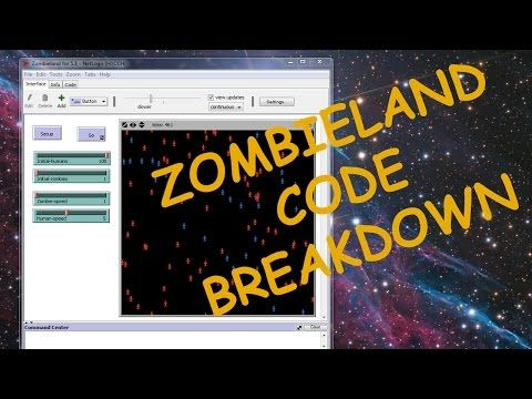 Code Breakdown of Basic Zombie Simulation in NetLogo - YouTube