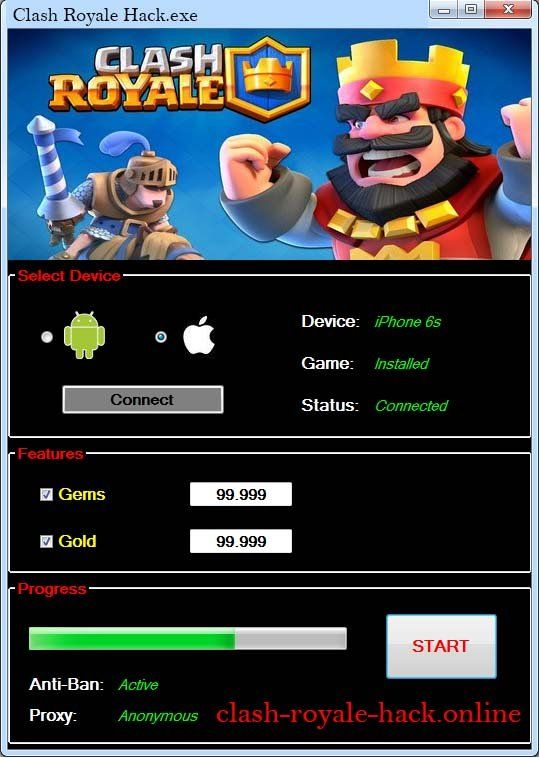 Clash Royale Hack Tool Online & No Survey Download