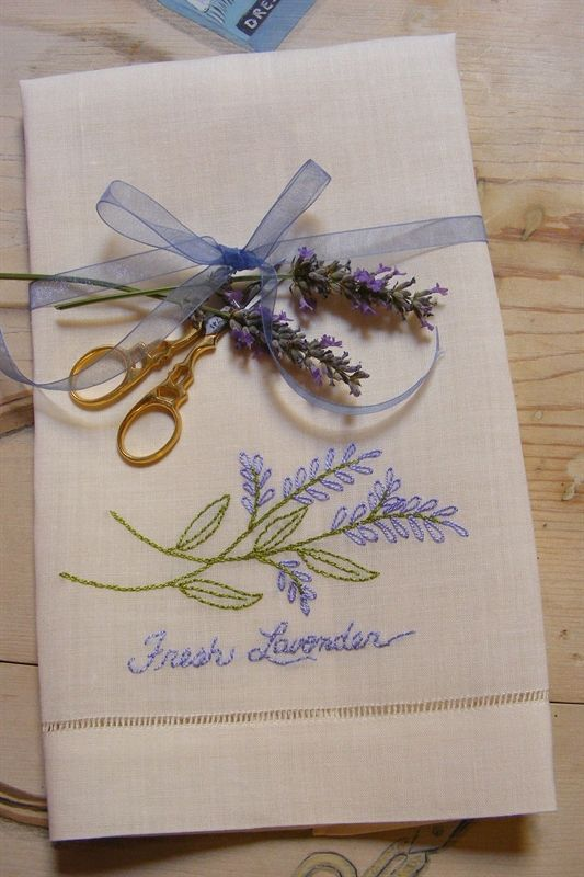 Picture of Freebie - Fresh Lavender Guest Towel... and many other embroidery