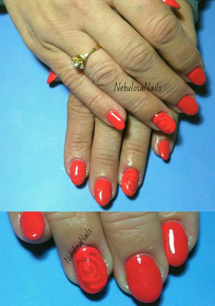 Copertura gel  #coperturagel #rosso #rosa #rosasottovetro #decoro #curadellemani #manicurate #mani #hands #bigliettodavisita #lospecchiodise #delicato #delicate #elegante #elegant #bellezza #cura #manicure #nails #nailart #unghianaturale #italia #napoli