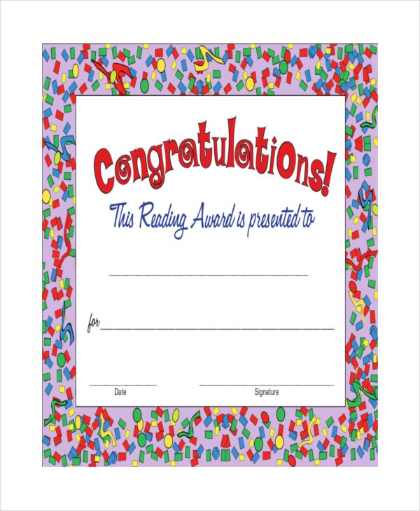 9+ Congratulation Certificate Templates Free Printable Word  PDF