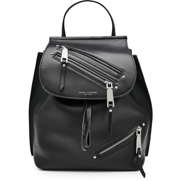 Marc Jacobs Leather Backpack found on Polyvore featuring bags, backpacks, bolsas, black, day pack backpack, marc jacobs bags, leather daypack, drawstring bag and draw string backpack