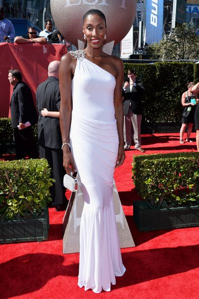 Lisa Leslie in Elegant White for the 2013 ESPY Awards
