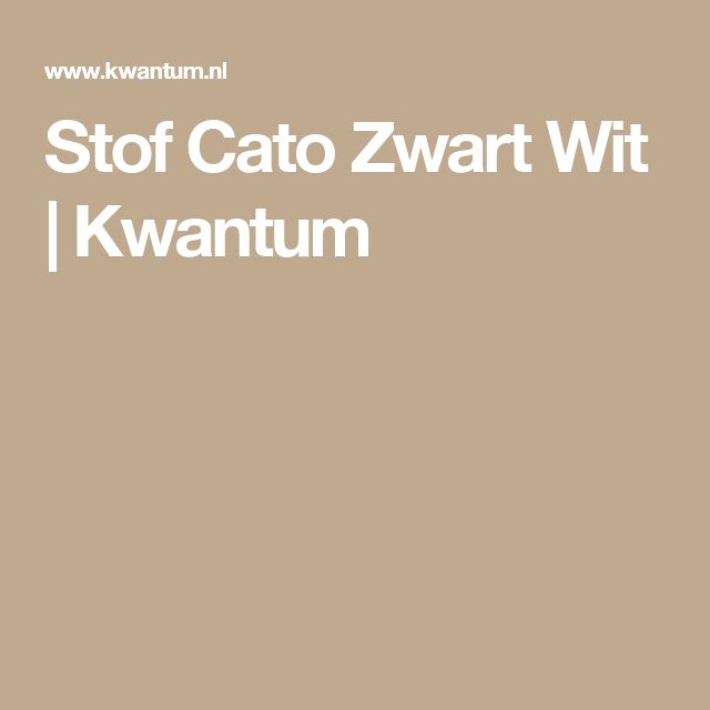 Stof Cato Zwart Wit | Kwantum