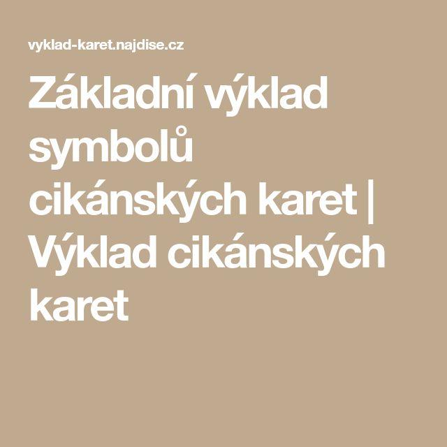 Základní výklad symbolů cikánských karet | Výklad cikánských karet