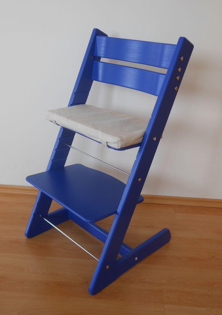 Rostoucí židle JITRO KLASIK modrá + podsedák