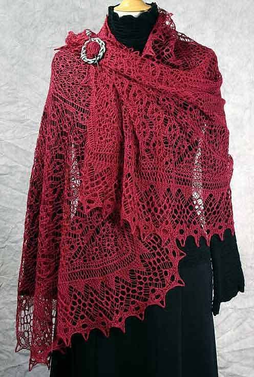 17 Best images about Knitted scarves on Pinterest Free pattern, Knitted sha...